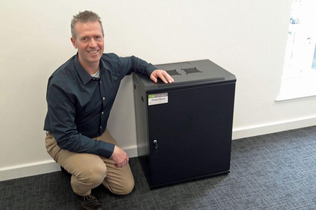 Tanjent's PowerBanx X battery storage, in black enclosure (Image: Tanjent)