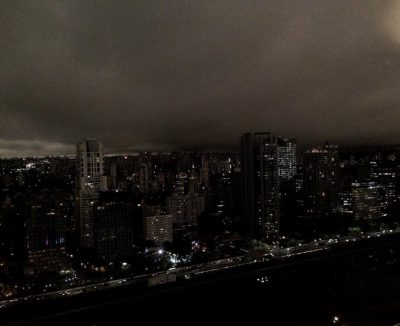 Sao Paulo covered in smoke haze (Image: A. So/Twitter)