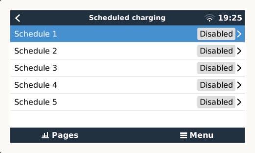 Scheduled Charging Settings (Image: T. Larkum)
