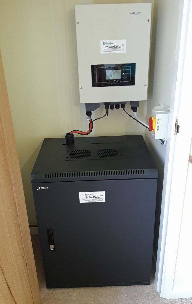 PowerBanx X Battery System in downstairs cupboard (Image: Tanjent)