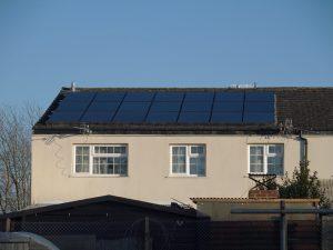 Solar installed for Mrs PK, Garston (WD25), Herts.