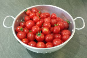 Our tomato harvest (Image: T. Larkum)