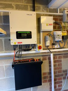 Mr TG's PowerBanx home battery system installed in his garage