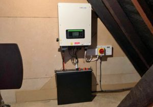 Mr MC's PowerBanx home battery system tucked away in the loft