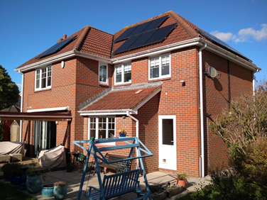 The arrangement of solar panels on my roof (Image: P. Cittern)