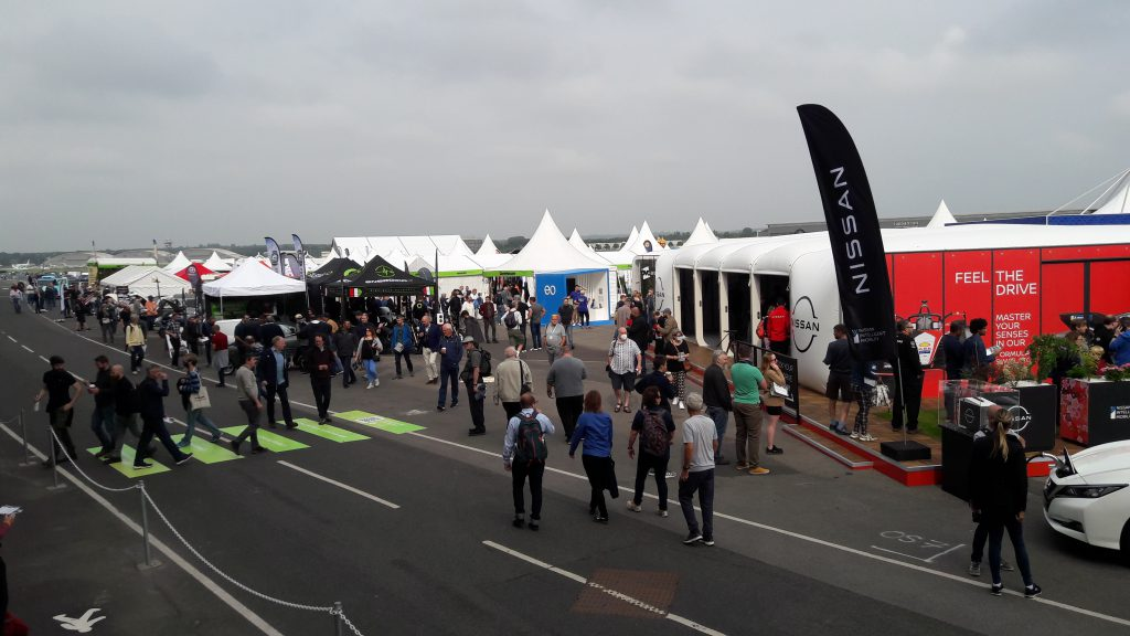 Nissan stand at Fully Charged 2021 (Image: TL/Tanjent)