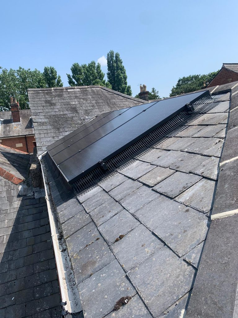 A solar install with bird control (Image: DH/Tanjent)