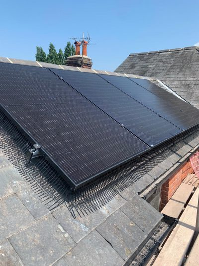A solar install on slate tiles near Colchester (Image: DH/Tanjent)